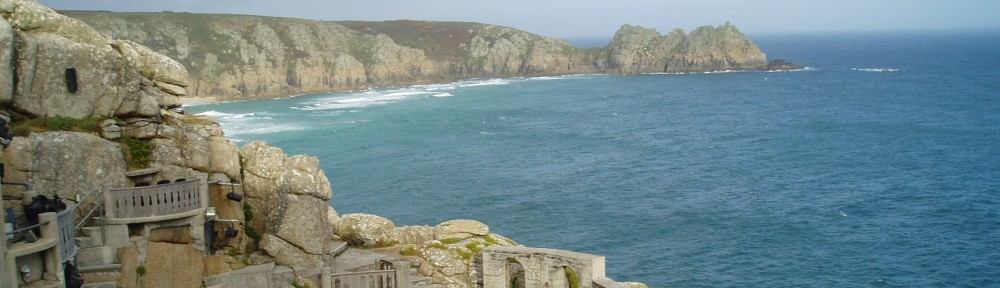 View from Minack Theatre at Porthcurno